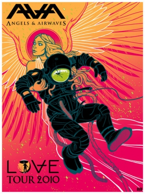ANGELS and AIRWAVES 2010 LOVE Tour Print by Munk One