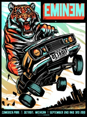 EMINEM 2010 DETROIT print by MUNK ONE