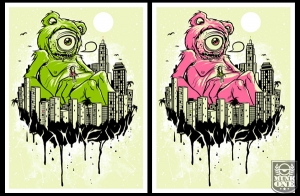 LOVE UNITES 2009 Glow in the Dark Art Print by MUNK ONE