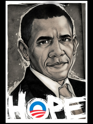 OBAMA 2008 Election Print by MUNK ONE