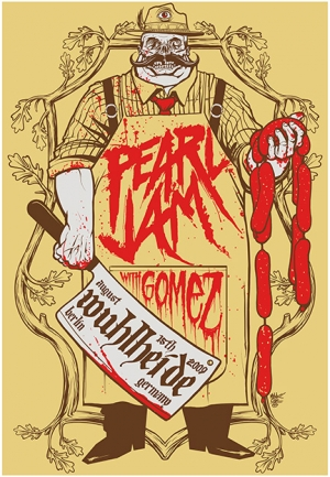 Pearl Jam 2009 BERLIN print by Munk One