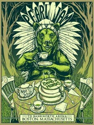 Pearl Jam 2010 BOSTON print by MUNK ONE