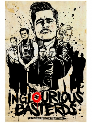 INGLOURIOUS BASTARDS 2010 Poster for Haiti by MUNK ONE