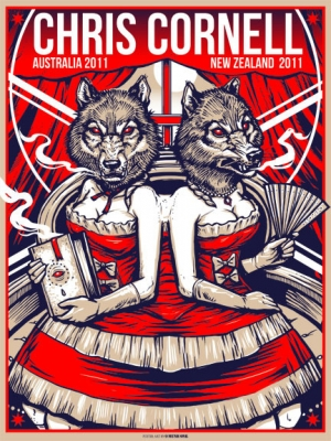 CHRIS CORNELL 2011 AUSTRALIA print by Munk One