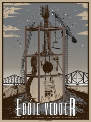 Eddie Vedder 2011 BRISBANE POSTER by Munk One