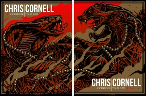CHRIS CORNELL 2011 SONGBOOK TOUR Both Gold Variants by Munk One