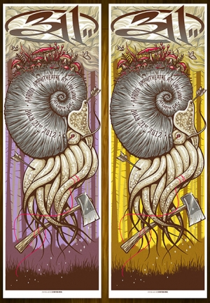 311 2012 ATLANTA Print and Variant by Munk One