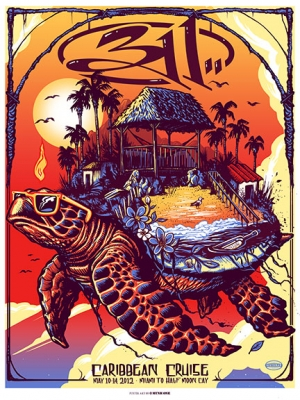 311 2012 CRUISE print by Munk One