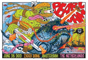 Pearl Jam 2012 AMSTERDAM Collaboration between  Munk One and Frank Kozik