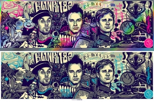 Blink-182 2012 20Years print by Munk One