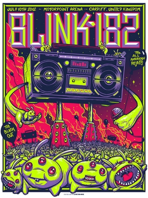 Blink-182 2012 CARDIFF Variant by Munk One