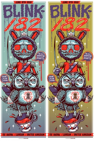 Blink-182 2012 LONDON by Munk One