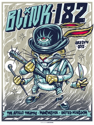 Blink-182 2012 MANCHESTER variant by Munk One