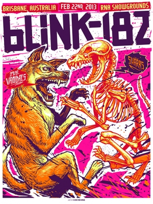 Blink-182 2013 BRISBANE by Munk One