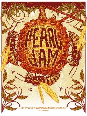 Pearl Jam 2013 CHARLOTTE Print by MUNK ONE