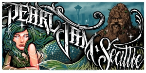 Pearl Jam 2013 SEATTLE Maxx242 Munk One and Jeff Soto Collaboration
