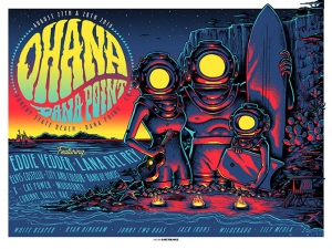 Eddie Vedder 2016 OHANA_print by Munk One