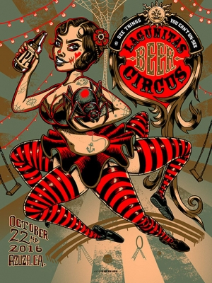 LAGUNITAS 2016 BEER CIRCUS print by Munk One