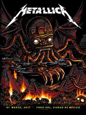 Metallica Mexico 2017 N1 by Munk One