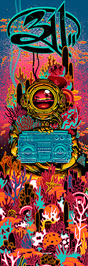 311 SkateBoard and Print by Munk One 2019