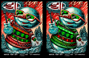 311 Winter Tour Double Poster 2019 by Munk One