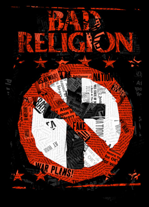 Bad Religion Paper Cross by Munk One