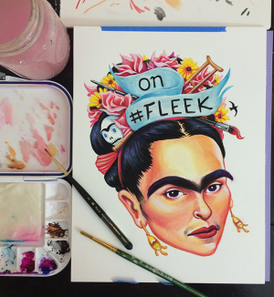 2015 On Fleek Gouache Painting by Munk One
