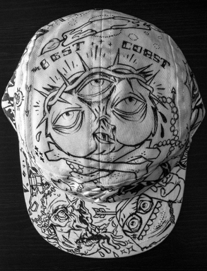 Custom Hand Drawn Hat by Munk One