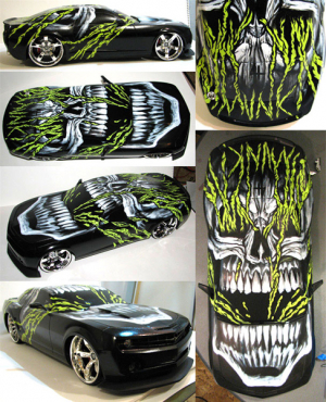 GM Customized Camaro Model Spew Art by Munk One