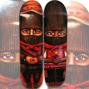 Marcos & Ramona Custom Skateboard Art by Munk One