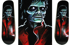 Thriller Board custom Skateboard art by Munk One