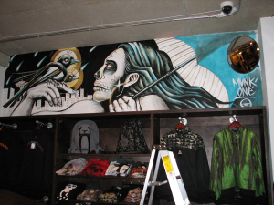 UP IN STORE Mural by Munk One