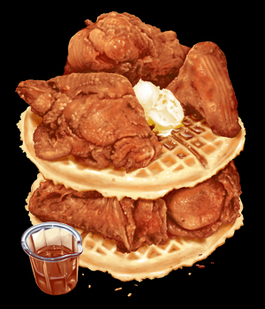 UP CHICKEN AND WAFFLES by Munk One